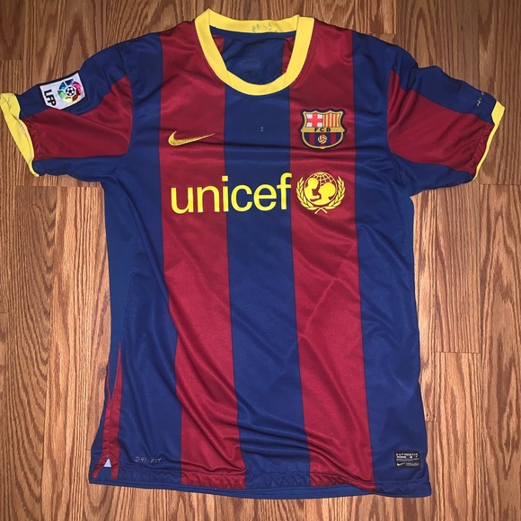 outlet store fc6c0 ba8b7 2010/11 FC Barcelona Home Jersey